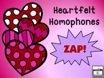 Heartfelt Homophones ZAP!