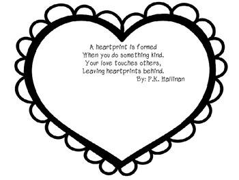 Heartprints by P.K. Hallinan - A Writing Activity (Valentine's Day)