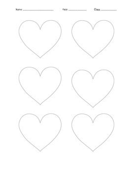 Hearts - 2 on each line