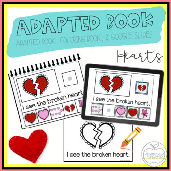 Hearts Adapted Book & Student Book for Early Childhood Special Ed