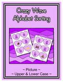 Hearts Alphabet Sorting Set - Light Purple with Crazy Wave