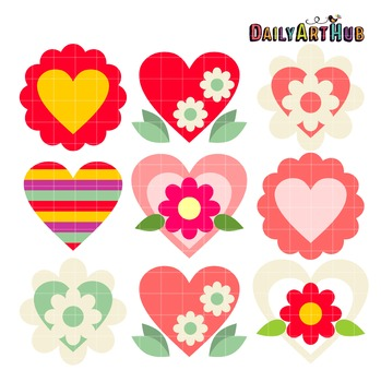 Hearts Art Clip Art - Great for Art Class Projects!