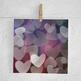 Hearts Bokeh Digital Paper