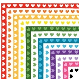 Clip Art: Heart Borders / Frames - Set of 24 Valentine's Day Clipart