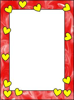 Hearts Borders Revamped Part 2, Clip Art Borders (Smita Keisser Clip Art)