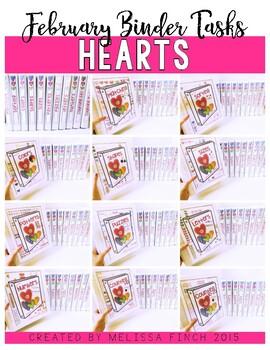 Hearts Bundle- Independent Work Binder System