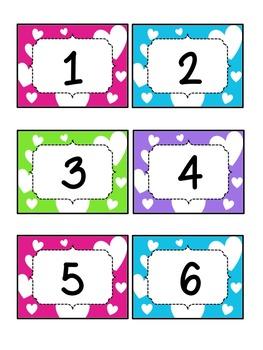 Hearts Calendar Set