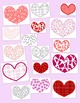 Hearts Clip Art Bundle Valentine's Day PNG JPG Blackline Commercial or Personal
