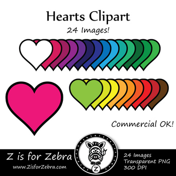 Hearts Clip Art - CU Ok { Z is for Zebra }