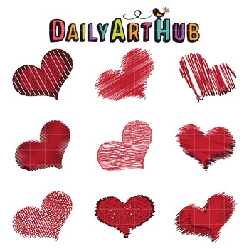 Hearts Clip Art - Great for Art Class Projects!