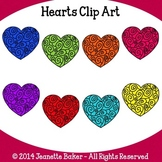 Hearts Clip Art by Jeanette Baker