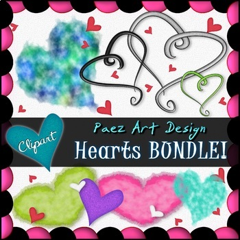 Hearts Clipart BUNDLE {Paez Art Design}