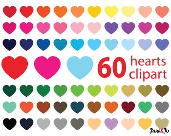 Hearts Clipart,Digital Hearts Clipart,heart image,Heart Graphics,Heart labels
