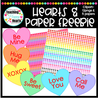 Hearts Clipart & Digital Papers Freebie