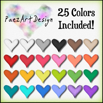 Hearts Clipart: Set One {Paez Art Design}