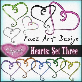 Hearts Clipart: Set Three {Paez Art Design}