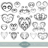 Hearts Clipart Tattoo Tribal Heart Clip Art Swirl Scrapboo