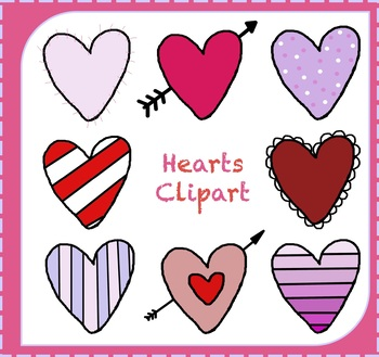 Hearts Clipart {Valentine's Day Clipart}