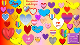 Valentines Clipart - Hearts, Chocolates, bow and arrow, groovy kids, love birds