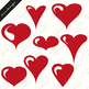 Hearts Clipart, Valentines Day clipart