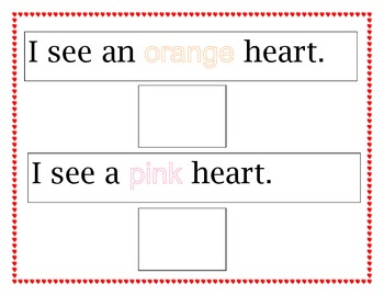 Hearts Color Sort and Matching Activity