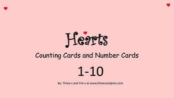 Hearts Counting Cards 0-10