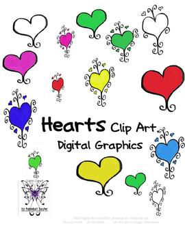 Hearts Digital Graphics, Hearts Clip Art