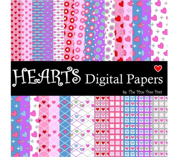 Hearts Digital Papers