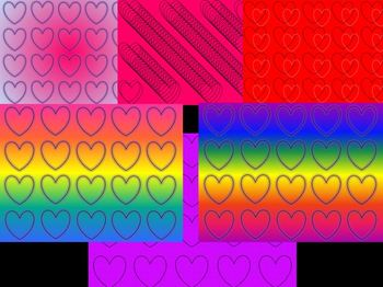 Hearts Digital Papers (Backgrounds)