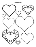 Hearts Drawing or Tracing Guide