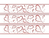 Hearts February Valentine's Day Bulletin Board Border Printable Full Color PDF