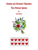 Hearts & Flowers Valentine Ten Frames Games