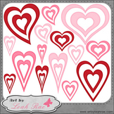 Hearts Galore 2 - Art by Leah Rae Clip Art & Line Art / Di