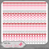 Hearts Galore Page Borders 4 - Art by Leah Rae Clip Art &