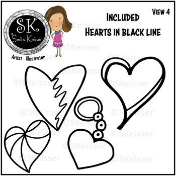 Hearts Galore Patterns Clip Art (Smita Keisser Clip Art)