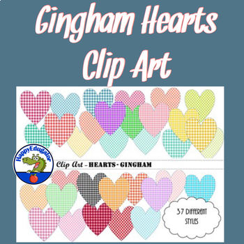 Hearts - Gingham - Clip Art
