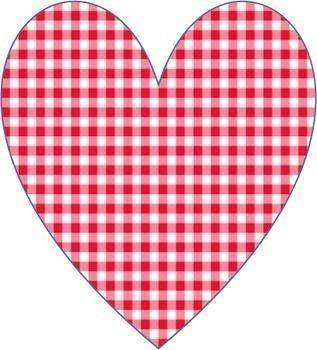 Hearts - Gingham - Clip Art