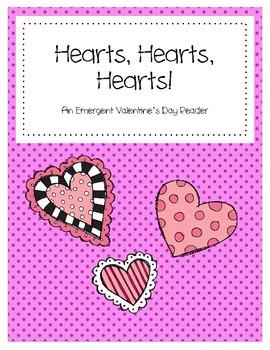 Hearts, Hearts, Hearts!  Emergent Reader Mini Book