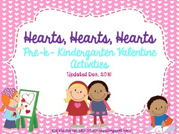 Hearts, Hearts, Hearts: Pre-K and K Literacy and Math Activities