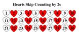 Heart Skip Counting Charts (2s, 5s, & 10s)