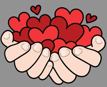 Valentine Clip Art - Hearts In Hands