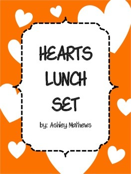 Hearts Lunch Set