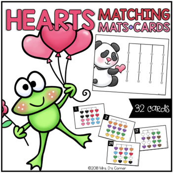Hearts Matching Mats and Activity Cards (Patterns, Colors, and Matching)