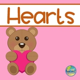 Hearts:  Matching Numbers File Folder Game