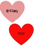 Hearts Place Names Clip Art
