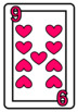 Hearts Playing Cards Color AND b&w