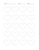 Hearts Printable 4 On Each Line Rhythm Time Signature 4/4