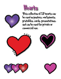 Hearts, Purple, Pink & Red Clipart
