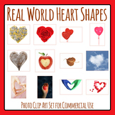 Hearts - Real Life Shapes Photo Clip Art for Commercial Use