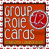 Hearts & Red & Black -- Editable Group Role Cards & Table